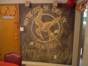 E17's Hunger Games themed b-day party.