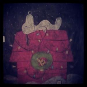 chalkboard snoopy