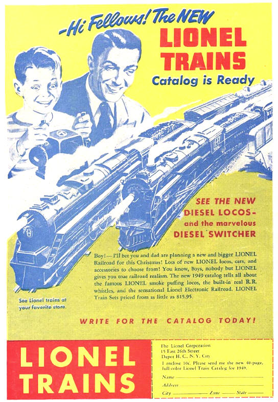 COMICAD lionel trains catalog
