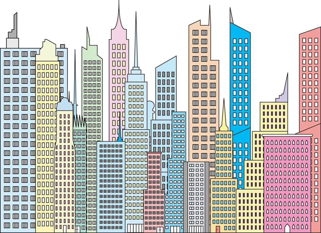 how to draw new york buildings