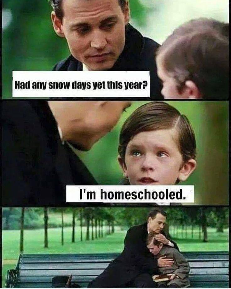 Funny Memes: Homeschool Humor – Snow Day Edition