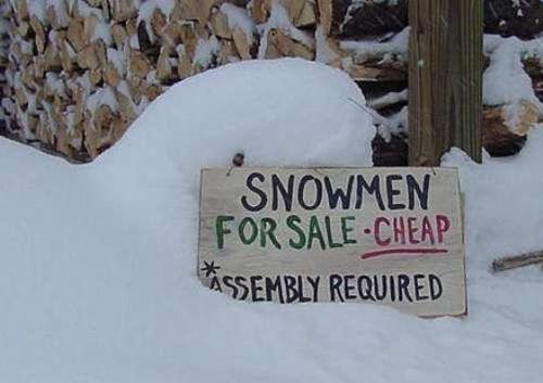 funny christmas snowmen1
